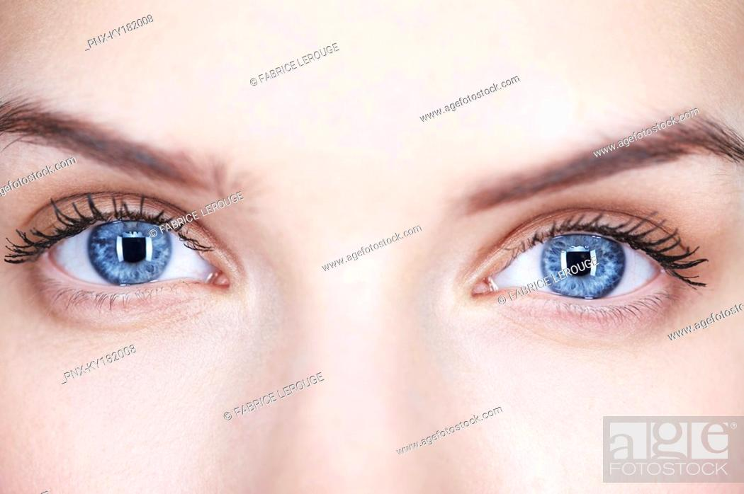 Stock Photo: Close-up of woman's eyes.