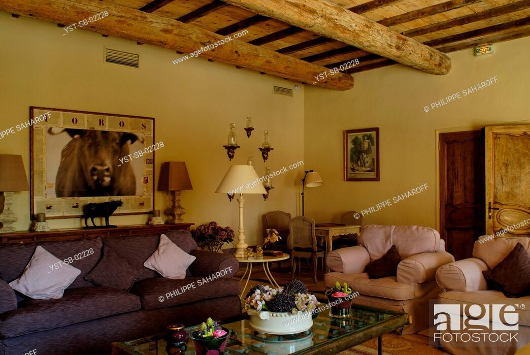 Stock Photo: Living Room, Provence, France.