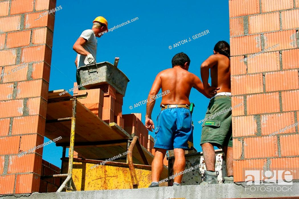 Stock Photo: Construction workers.