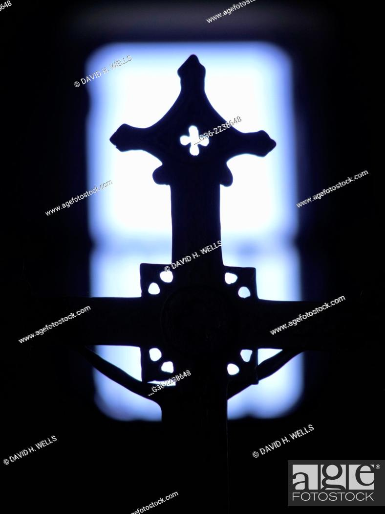Stock Photo: Cross at Church, Espírito Santo, Brazil.