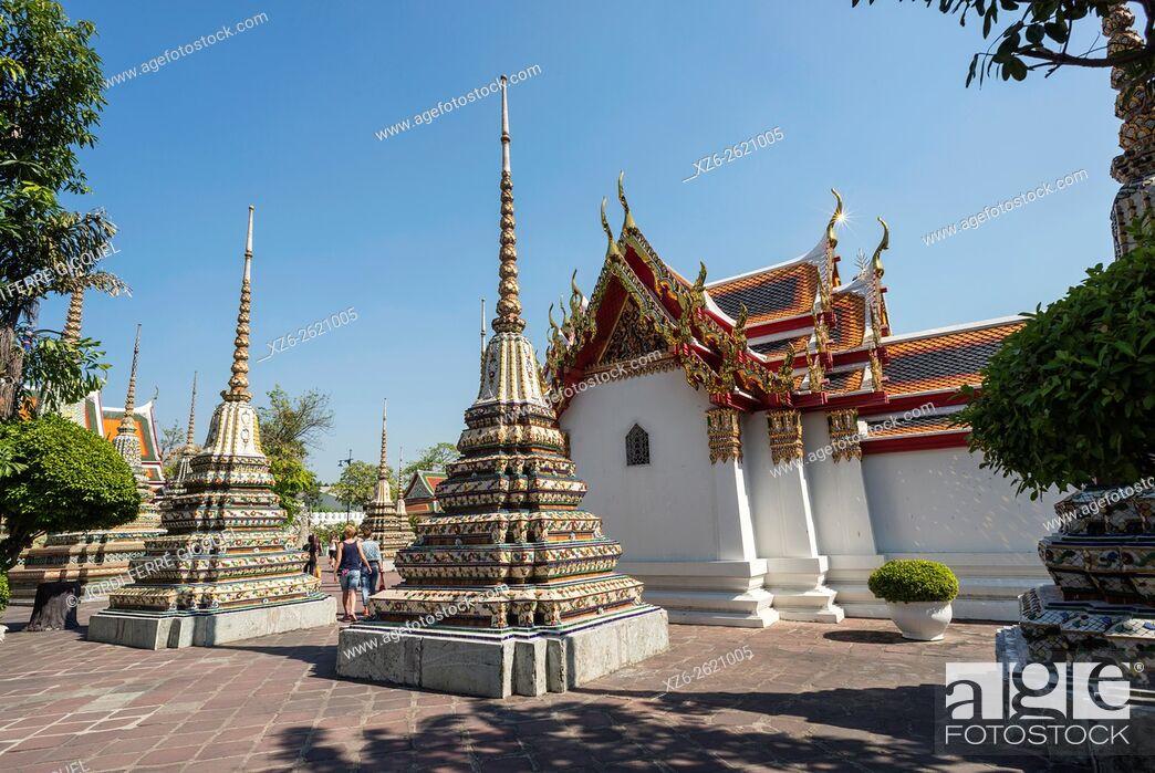 Stock Photo: Wat Po, Buddhist temple, Bangkok, Thailand, Asia.