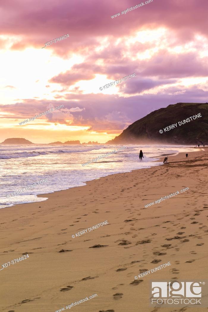 Imagen: Europe, Spain, Gipuzkoa, Zarautz Beach.