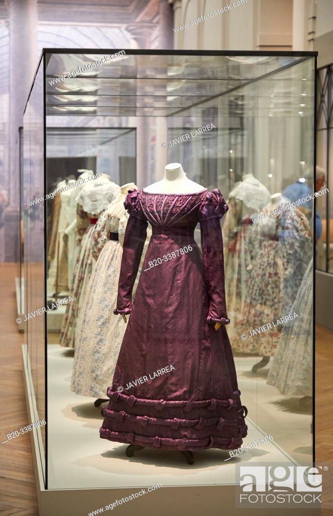 Robe Habillee 1824 Palais Galliera Musee De La Mode De La Ville De Paris Stock Photo Picture And Rights Managed Image Pic B20 3387806 Agefotostock
