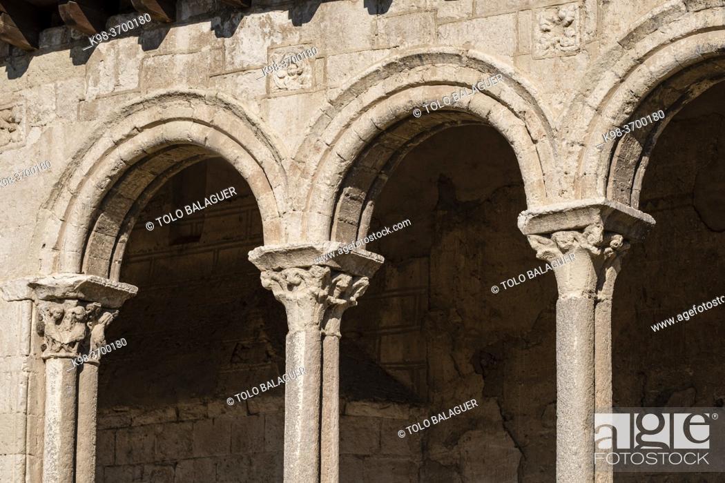 Stock Photo: Iglesia de San Martín, Iglesia de las Torres Gemelas, 12th century, Arévalo, Ã. vila province, Spain.