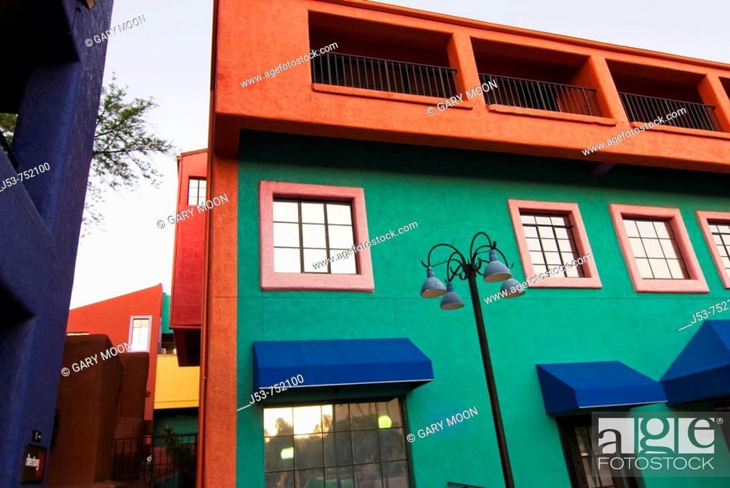 Stock Photo: La Placita Village shops and office complex,Tucson, Arizona, USA.