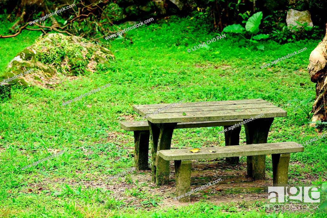Stock Photo: picnic place.
