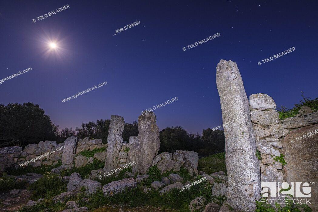 Stock Photo: So na Caçana sanctuary village, Alaior, Menorca, Balearic Islands, Spain.