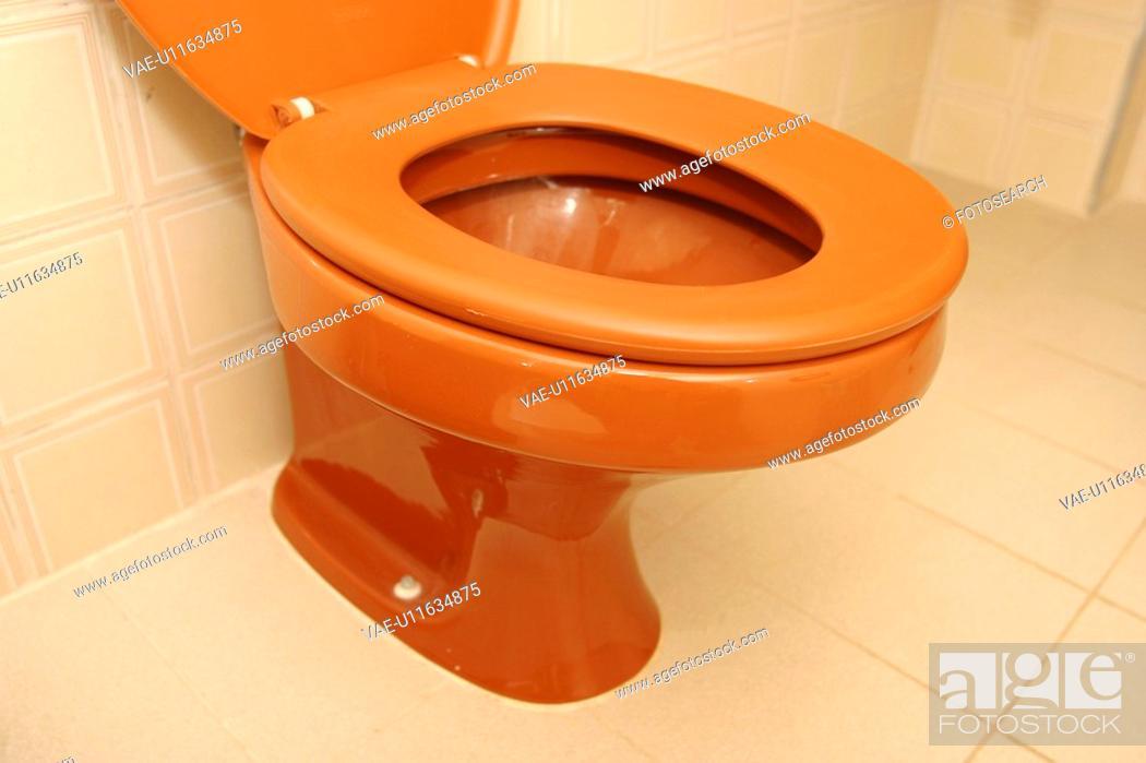 Stock Photo: bathroom, bathroom tiles, ceramic ware.