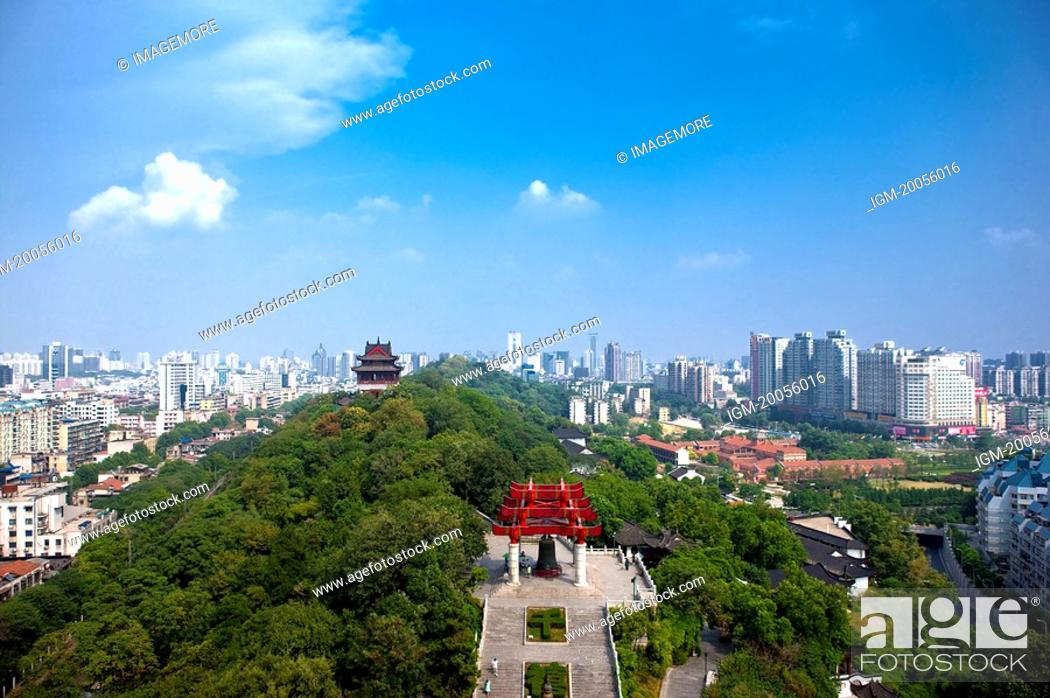 Stock Photo: China, Hubei Province, Wuhan, Wuchang, Aerial View.