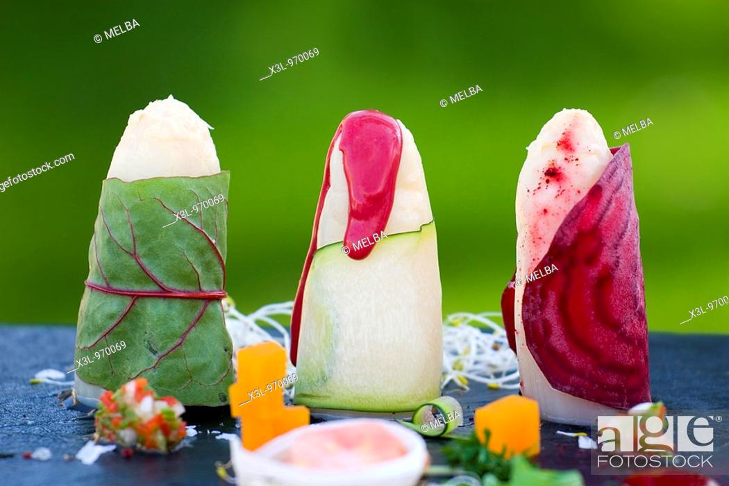 Photo de stock: Asparagus dish  Navarra  Spain.