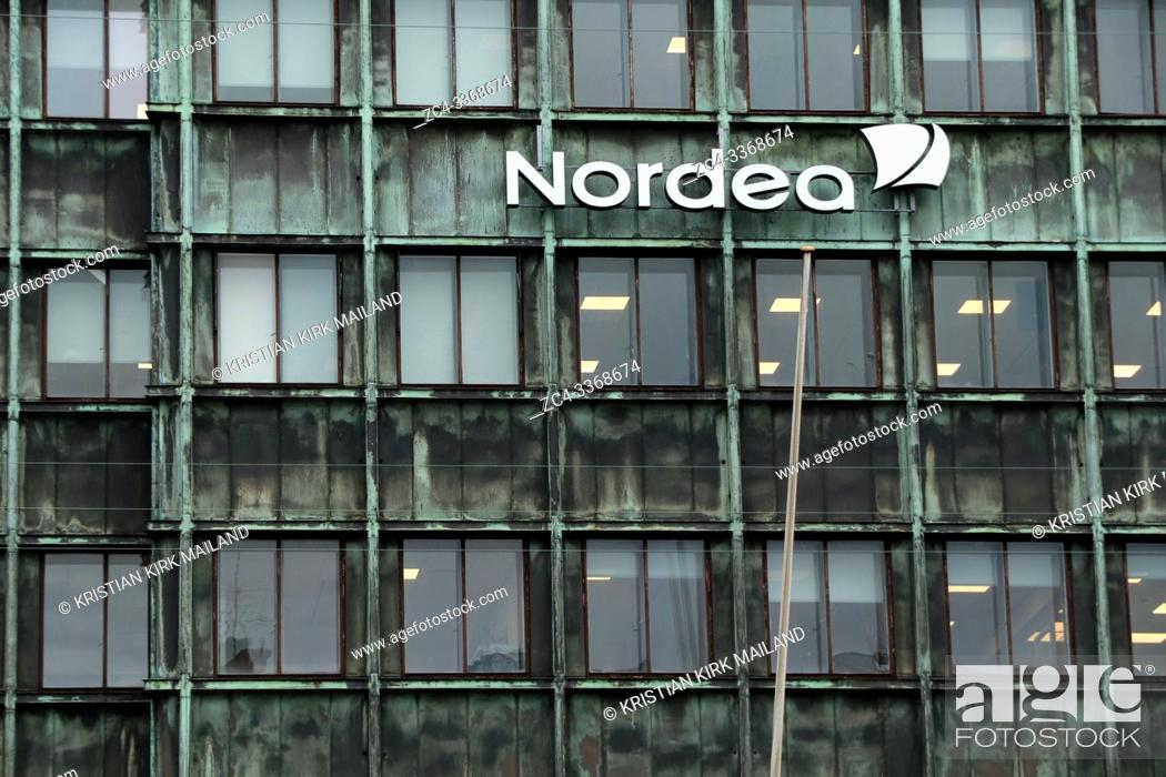 Stock Photo: Nordea Bank. Vesterbro branch in Copenhagen from where potential money laundering has taken place. Nordea scrutiny deepens on fresh money laundering allegations.
