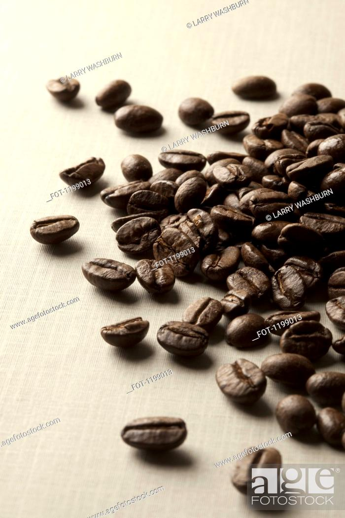 Stock Photo: A pile of coffee beans.