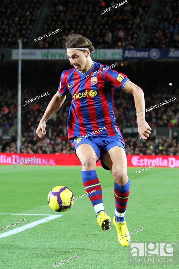 Stock Photo: Barcelona, Camp Nou Stadium, FC Barcelona, Zlatan Ibrahimovic, 2010.