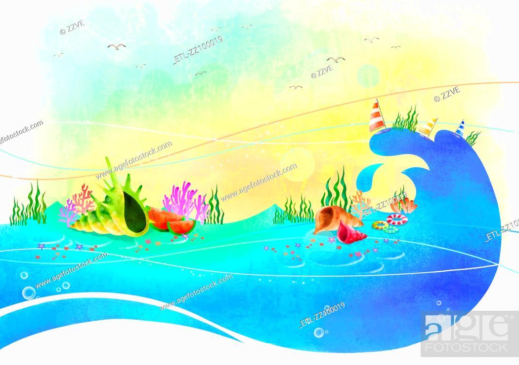 Stock Photo: underwater scene.
