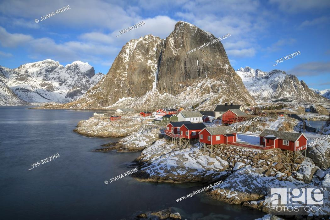 Stock Photo: Reine, Lofoten, Norway, Europe.