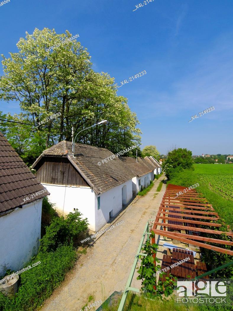Stock Photo: village, houses in a row, Austria, Lower Austria, Hollabrunn.