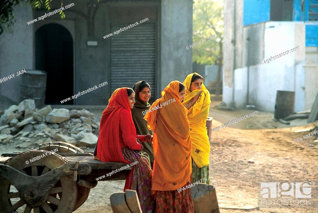 Stock Photo: Group of Woman , Discussion , Villagers , Rajasthan , India.
