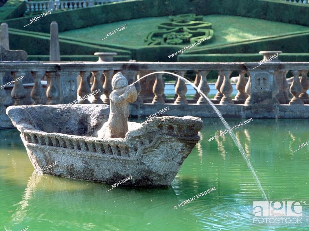 Stock Photo: Fontana del Quadrato Mohrenbrunnen, Steinerne Boote.
