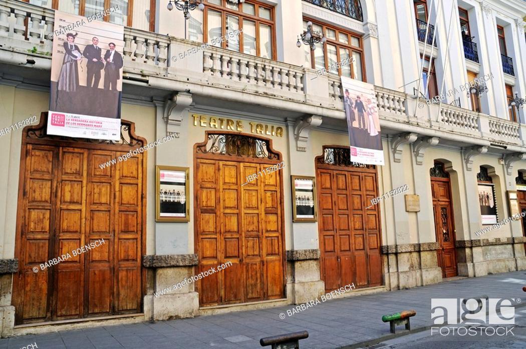 Stock Photo: Teatro Talia, theater, Casa de los Obreros, San Vicente Ferrer, Barrio El Carmen district, Valencia, Spain, Europe.