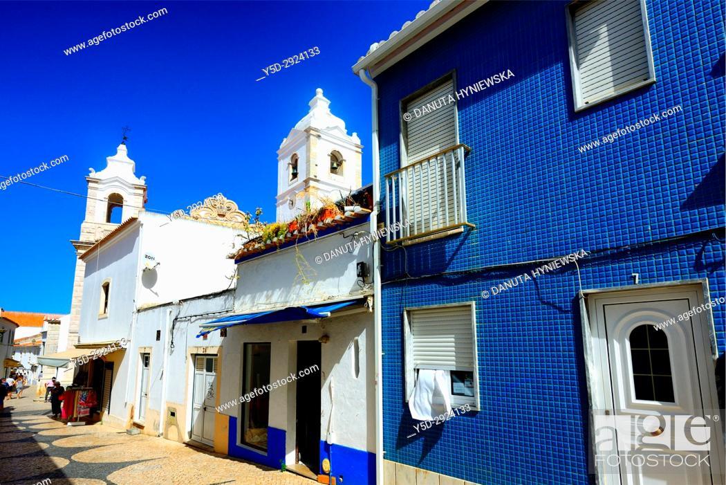 Stock Photo: architecture in historic part of Lagos city, Algarve, Portugal, Europe.