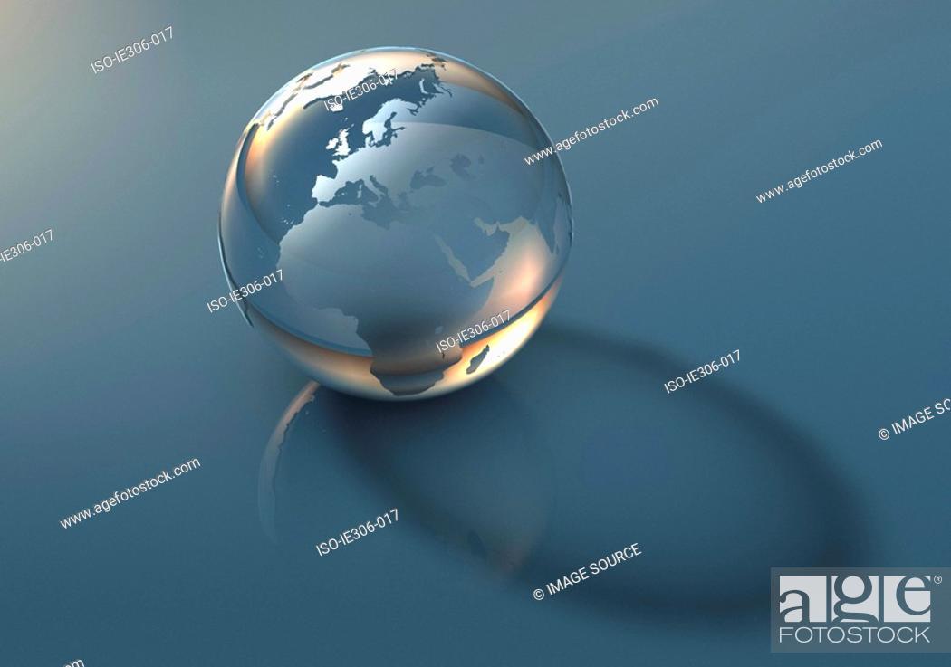 Stock Photo: Translucent globe.