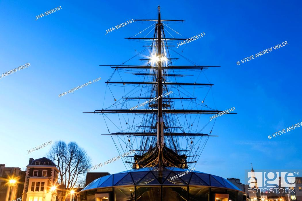 Stock Photo: England, London, Greenwich, The Cutty Sark.