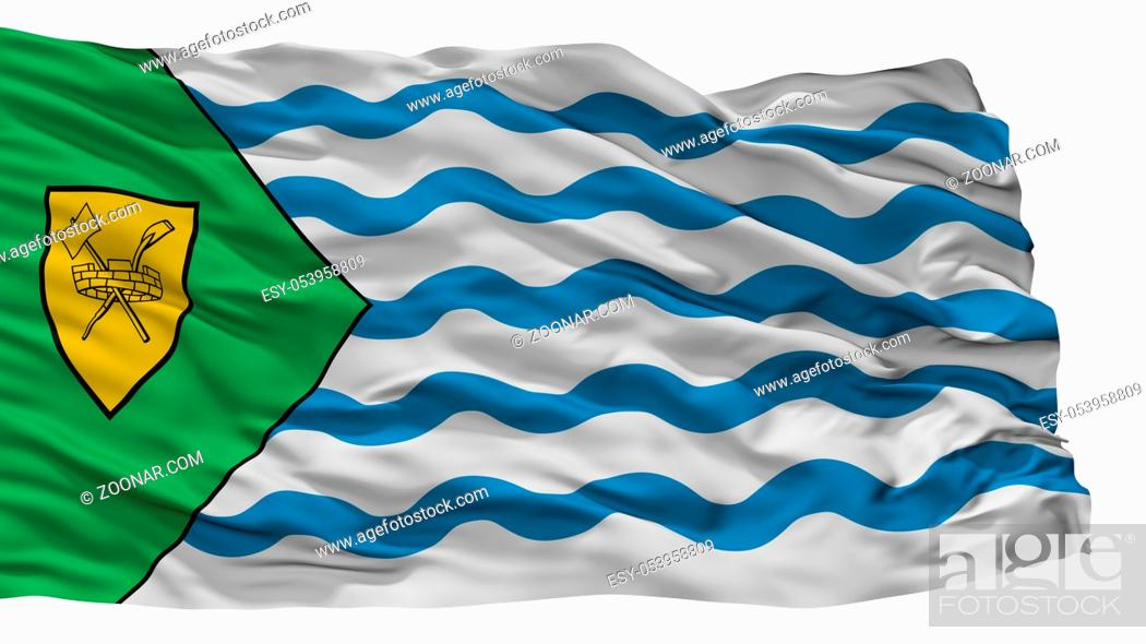 Stock Photo: Vancouver City Flag, Country Canada, Isolated On White Background.