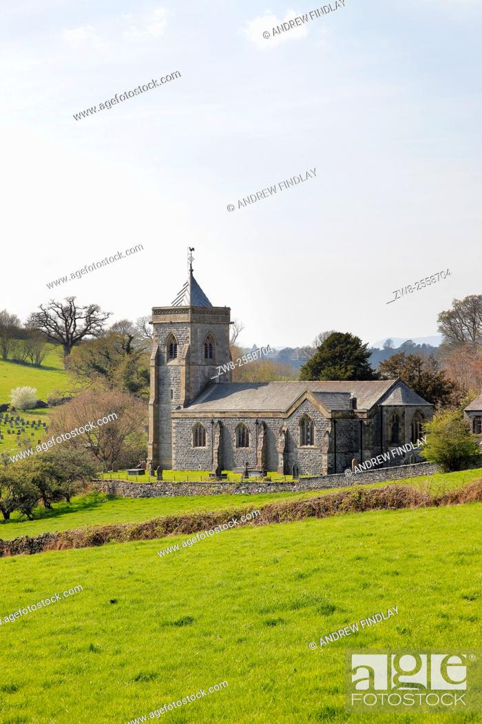 Stock Photo: St. Mary's Church. Crosthwaite and Lyth, Lyth Valley, Lake District National Park, Cumbria, England, Kingdom, Europe.
