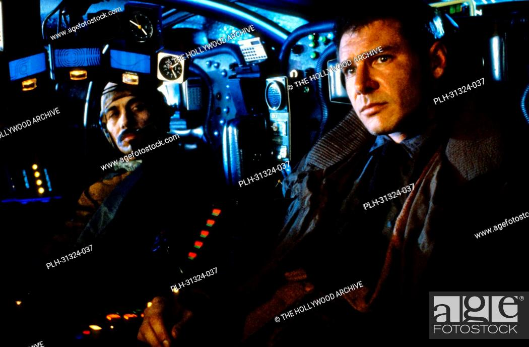 Stock Photo: Harrison Ford, Edward James Olmos Blade Runner 1982.