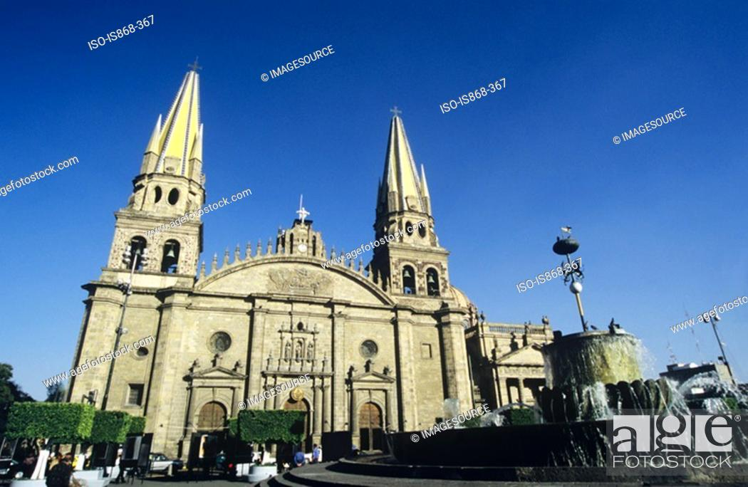 Stock Photo: Guadalajara cathedral.