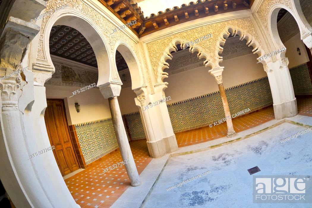 Stock Photo: Royal Convent of Santa Clara, 14th Century, Real Monasterio de Santa Clara, Tordesillas, Valladolid, Castilla y León, Spain, Europe.