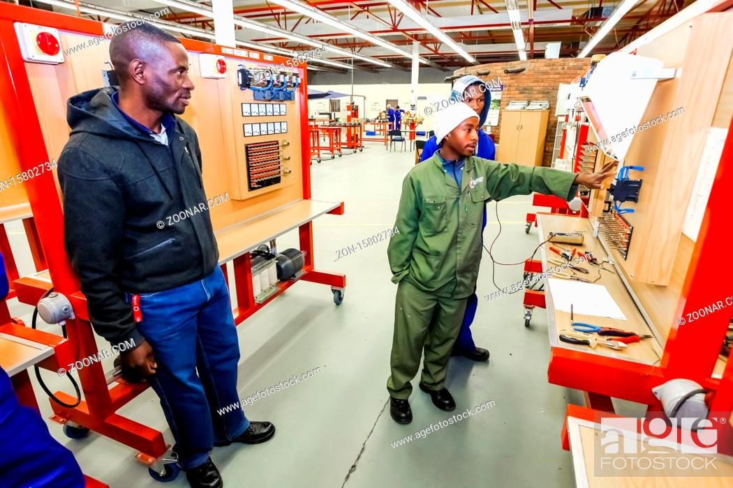 Stock Photo: Johannesburg, South Africa - July 23 2012: Vocational Skills Training Centre in Africa.
