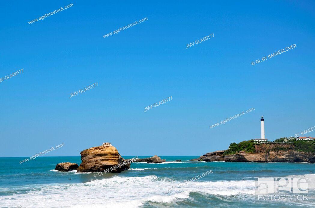 Stock Photo: Barritz Coast, Biarritz, France.