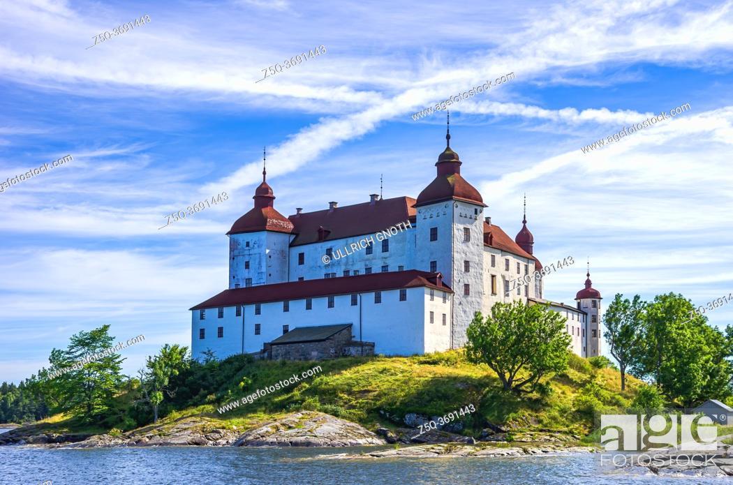 Stock Photo: View of Baroque Läckö Castle on Kållandsö in Lake Vänern in Västergötland, Sweden.