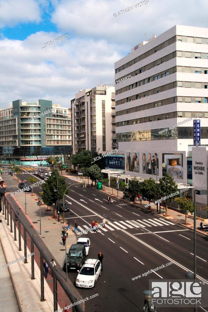 Stock Photo: View of street Aurea Diaz Flores. Santa Cruz de Tenerife.