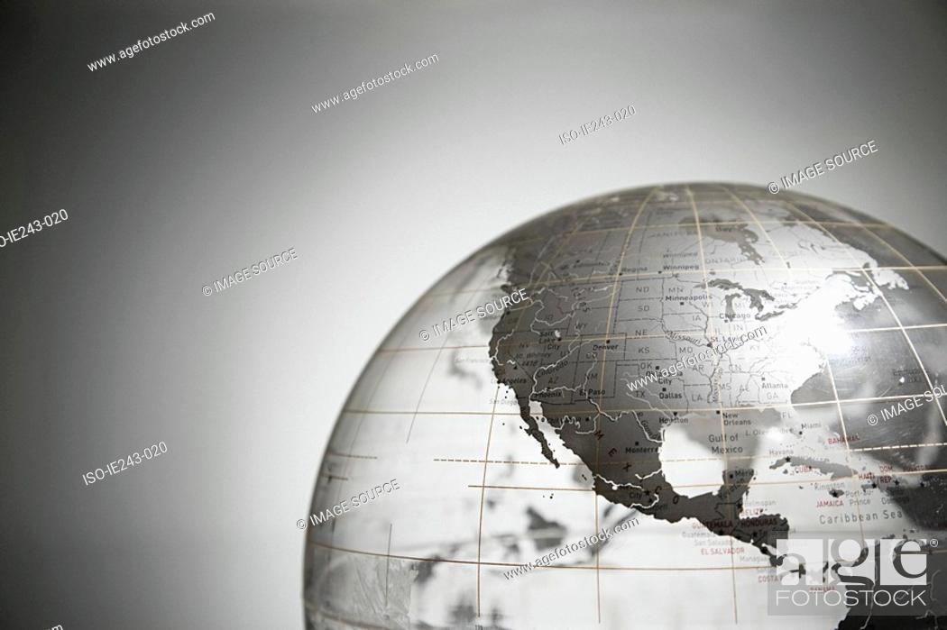 Stock Photo: Silver globe.