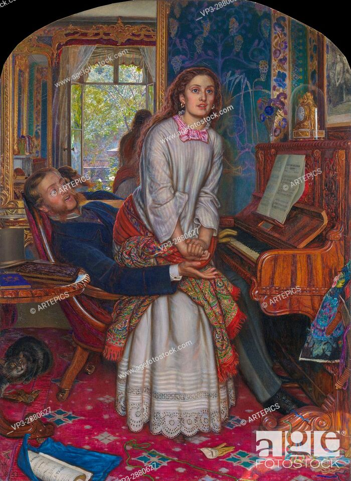 Stock Photo: The Awakening Conscience by William Holman Hunt.