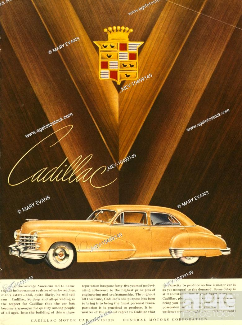 Advertisement For The Cadillac Motor Car From General Motors Stock