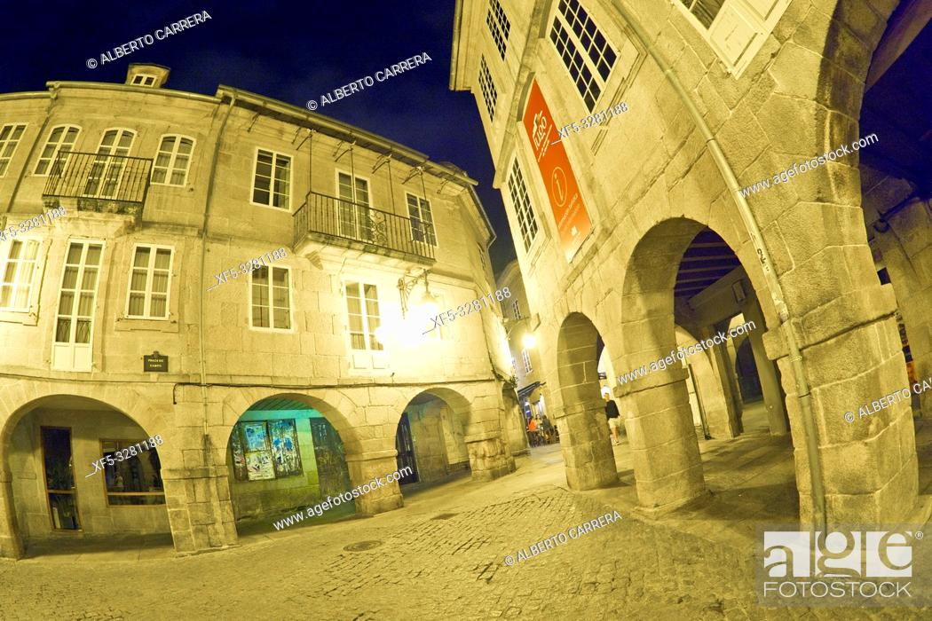 Imagen: Street Scene, Tipycal Architecture, Old Town, Lugo City, Lugo, Galicia, Spain, Europe.