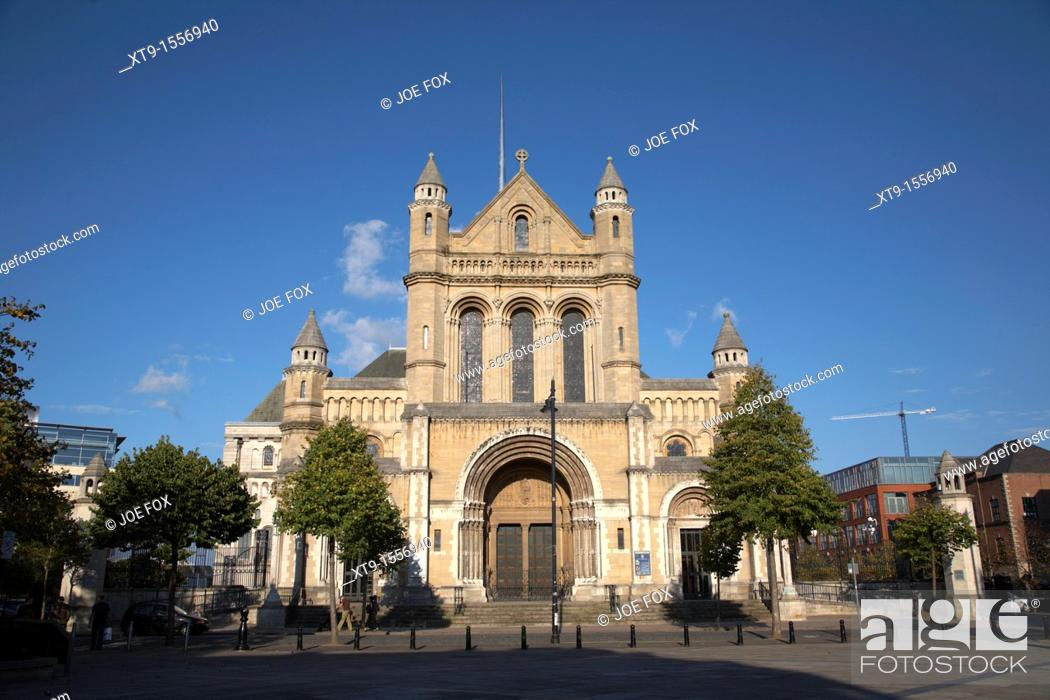Stock Photo: St Annes Cathedral, Belfast, Northern Ireland, UK  Belfast Cathedral, the Cathedral Church of St Anne had its foundation stone laid in 1899  The Cathedral was.