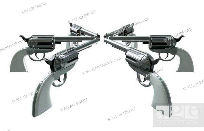 Stock Photo: Handgun Standoff.
