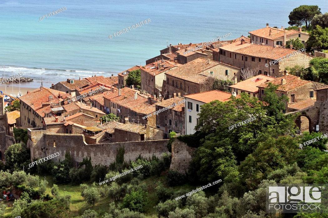 Stock Photo: COASTAL TOWN OF CASTIGLIONE DELLA PESCAIA, GROSSETO REGION, MAREMMA, TUSCANY, ITALY.