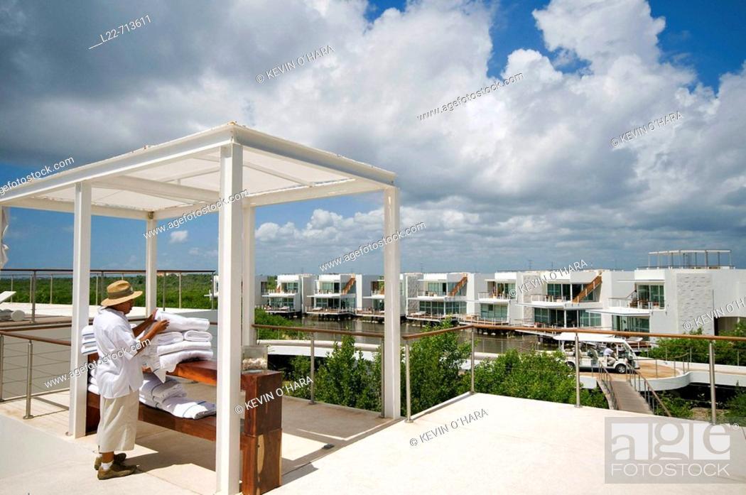Stock Photo: Mandarin Oriental Riviera Maya Hotel. Playa Del Carmen. Yucatan Peninsula. Mexico.