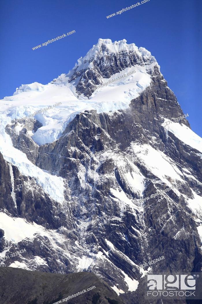 Photo de stock: Chile, Magallanes, Torres del Paine, national park, Paine Grande,.