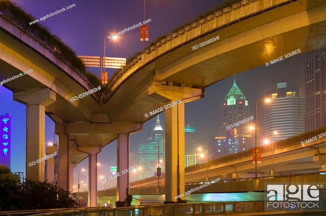 Stock Photo: Elevated highway in shanghai.