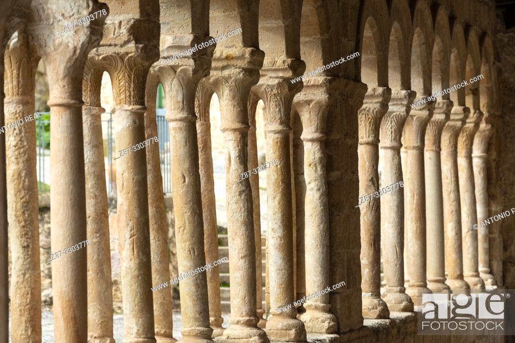 Stock Photo: Iglesia del Salvador (church, 13th Century). Carabias. Ruta del Románico Rural. Guadalajara Province, Castile-La Mancha, Spain.