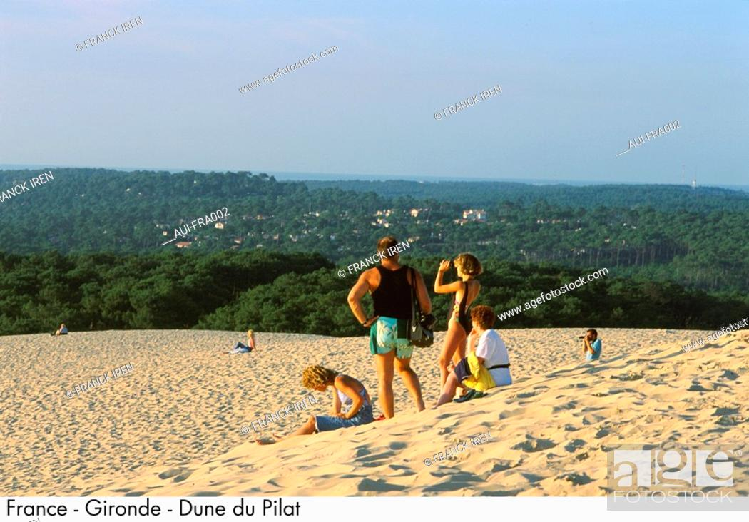Stock Photo: France - Gironde - The Great Dune of Pyla.