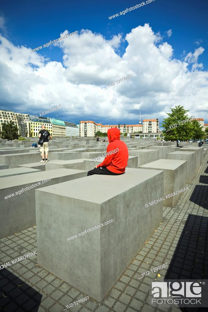 Stock Photo: Memorial to the Murdered Jews of Europe in Berlin, Germany.