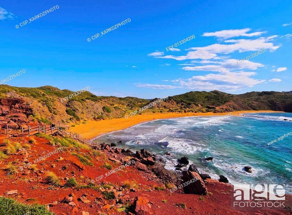 Stock Photo: Cavalleria Beach on Minorca.
