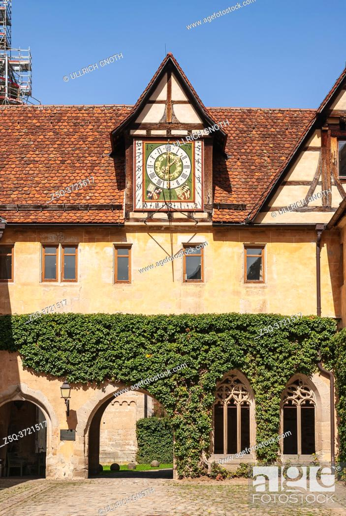 Stock Photo: Impressions of the village and the palace and monastery complex of Bebenhausen near Tübingen, Baden-Württemberg, Germany.
